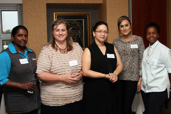 Charlotte Raman (St Mary's Hospital), Jackie Smith (Health Systems Trust), Dr Rochelle Adams (CAPRISA), Avashnee Singh (Maritime Business & Computer College), Sanelisiwe Nyasulu (G&B)