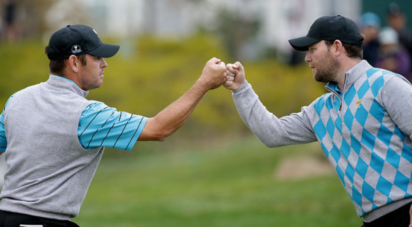 Branden Grace and Louis Oosthuizen are the second Presidents Cup duo to go 4-0 in a single year. (Chung Sung-Jun/Getty Images)