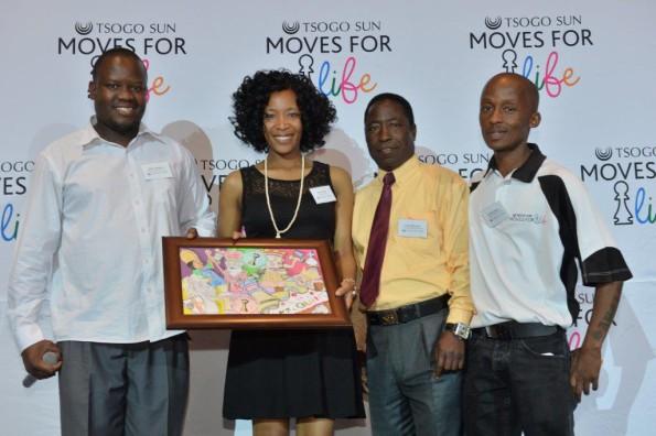 Hellen Moropa from Silverstar recieves a token of appreciation