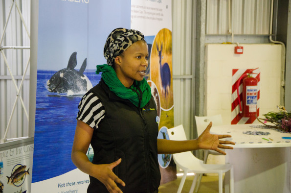 Siya Mpehle presenting at the Biodiversity Youth Unconference at the 2015 Cape Floral Kingdom Expo in Bredasdorp in August