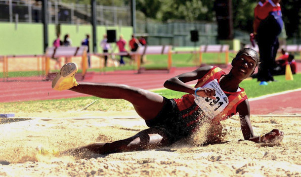 Long and triple jump specialist Zinzi Chabangu leapt to victory in the Sportswoman of the Year category at the University of Johannesburg's annual Sports Awards on Thursday night. Photo: Supplied