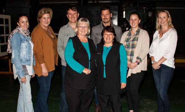 The LOC is putting the final touches to the 2015 AHi National Congress. Back L-R Beanca Rudolph (Sales) Santie Roelofse(Expo Coordinator) Werner Rall (Event Manager) Gordon McKean (Infrastructure) Tarryn Stephenson (Conference Coordinator) Louise Illman (Sponsorship & Marketing) Front L-R Ingrid Cronje (George Business Chamber Manager) Mary-Anne Loose (George Business Chamber Secretary) Photo Credit: Mark Boonzaier