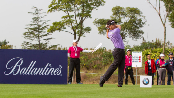 Louis Oosthuizen in full swing at the BMW Masters