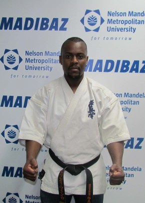 Madibaz karateka Lwazi Finca, who is a third Dan black belt, will represent South Africa at the Karate World Open in Japan from November 20. Photo: Supplied