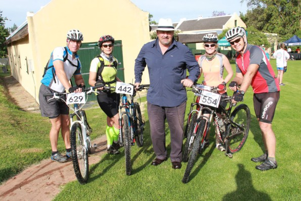 Mayor Nicholas Myburgh at the start/finish venue.