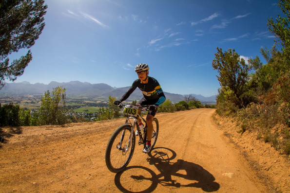 Perfect conditions helped Rikus Visser secure the win at the Bestmed Paarl MTB Classic, presented by the City of Drakenstein and ASG, at the Rhebokskloof Wine Estate on Sunday. Photo: Warren Elsom | Capcha Photo