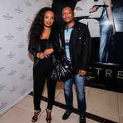 Sophie Ndaba and Partner (Norman Muzhona) enjoying the special preview screening of SPECTRE on Monday 16th November at movies@Silvestar