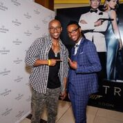 Howza and Silverstar's (Zakhe Mokhwane) enjoying the special preview screening of SPECTRE on Monday 16th November at movies@Silvestar