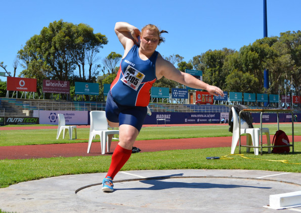 Madibaz shot put and discus star and Africa Games silver medalist Ischke Senekal will be one of the professionals coaches and athletes presenting a coaching clinic at Technical High School Daniel Pienaar on 6-8 January 2016 Photo: Full Stop Communication
