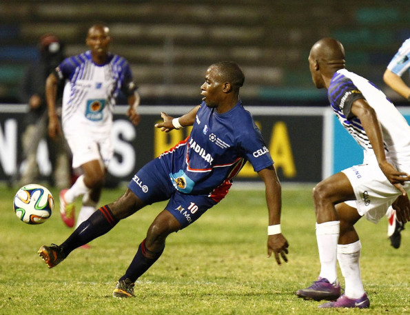 Madibaz footballer of the year Cloudius Sagandira in action during the 2015 Varsity Football tournament. Photo: Saspa