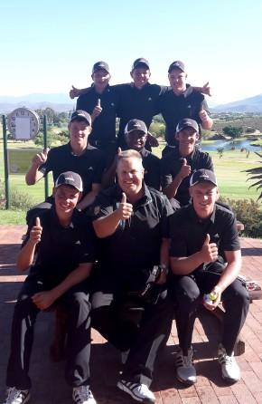 Team Northern Cape at the SA U-19 Inter-Provincial at Worcester Golf Club; credit SAGA