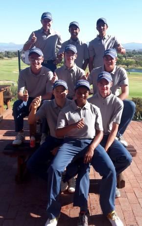 Team Western Province at the SA U-19 Inter-Provincial at Worcester Golf Club; credit SAGA