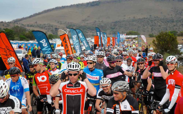 The seven-race Bestmed National Mountain Biking Series drew participants across five provinces for its inaugural edition. Here riders line up for the Lost City MTB Challenge.  Photo: Jetline Action Photo