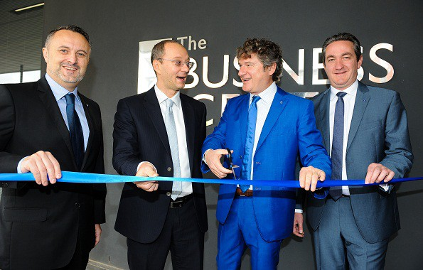 During the opening of the Datalogic office at The Business Centre in Century City. Photo by Roger Sedres