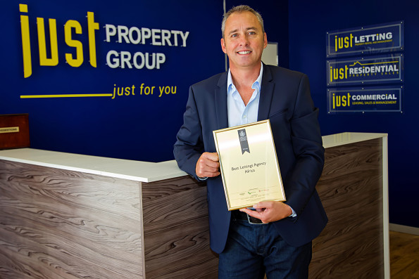 Just Property Group chief executive officer Paul Stevens accepted the award for the best lettings agency in Africa at the International Property Awards in London last week. Photo: Donna van der Watt