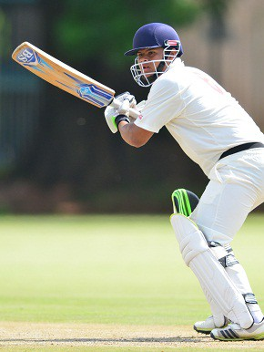 Levin Muller of SWD during day 2 of the Coca-Cola Khaya Majola Week at Tshwane University of Technology Cricket Oval on December 18, 2014 in Pretoria, South Africa. (Photo by Johan Rynners/Gallo Images)