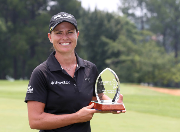 Lee-Anne Pace during day 3 of the 2016 Joburg Ladies Open at Royal Johannesburg and Kensington Golf Course on January 20, 2016 in Johannesburg, South Africa. EDITOR'S NOTE: For free editorial use. Not available for sale. No commercial usage. (Photo by Carl Fourie/Sunshine Tour/Gallo Images)