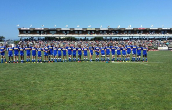 The Stormers line up before the match