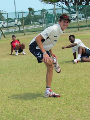 Mecer NMMU-Madibaz cricket captain Lloyd Brown going through his paces during pre-season training. Photo: Supplied