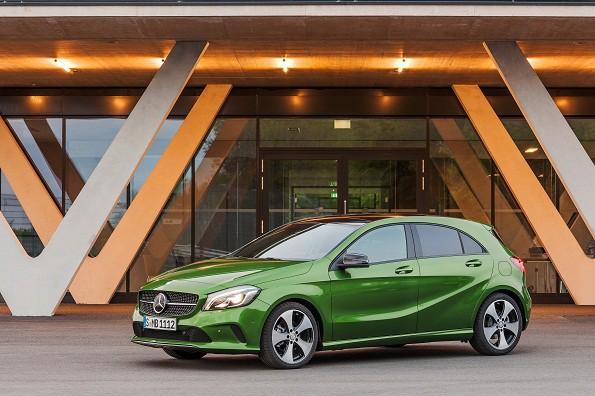 The Mercedes A220 d: striking design. Picture: Quickpic