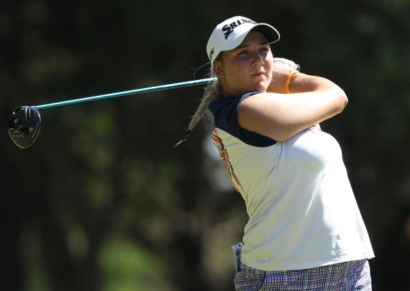 Reigning Sanlam SA Women's Stroke Play champion Ivanna Samu leads the Cape Town Ladies Open at Royal Cape Golf Club; credit Sunshine Ladies Tour