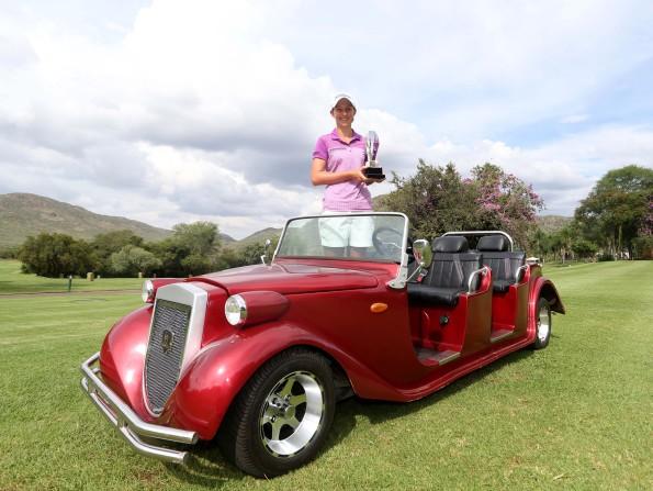 Sun International Ladies Challenge winner Bertine Strauss; credit Sunshine Ladies Tour