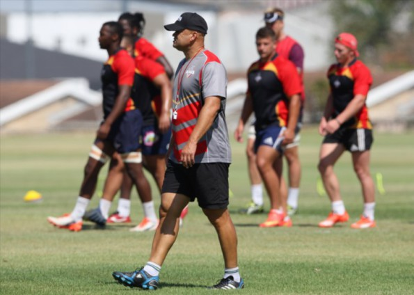 Deon Davids, head coach, during the Southern Kings training session at Nelson Mandela Bay Stadium, B Field on February 01, 2016 in Port Elizabeth, South Africa. (Photo by Richard Huggard/Gallo Images)