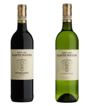 Left: Hartenberg Doorkeeper Shiraz 2013 Right: Hartenberg Sauvignon Blanc 2015