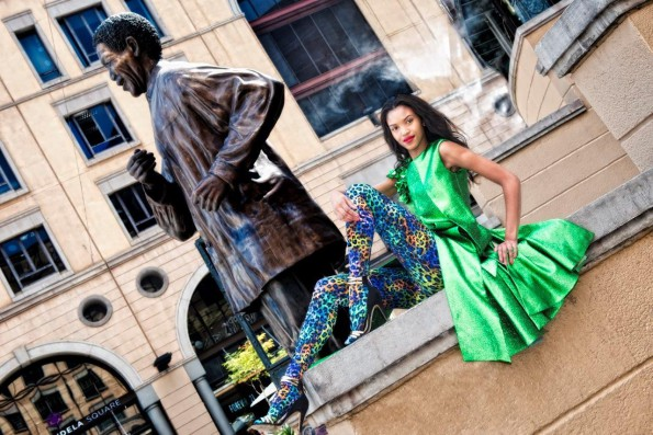 Model shoot at Nelson Mandela Square