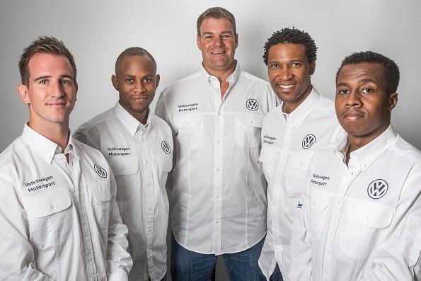 The Volkswagen racing team: Mathew Hodges, Kuda Vazhure Graeme Nathan, Gugu Zulu and Mandla Mdakane. Picture: Quickpic