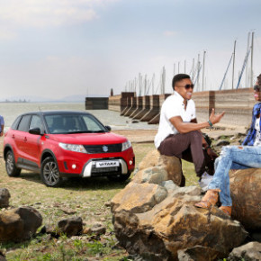 Suzuki's all new Vitara: The GL+ ticks all the boxes. The neat cabin: note the large analogue clock on the top of the dashboard. Pictures: Motorpress