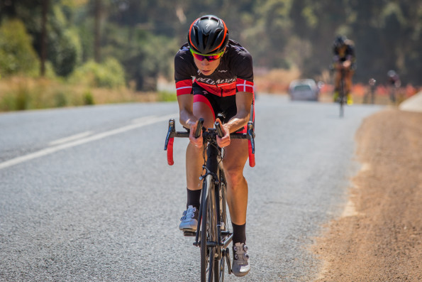 Danish time-trial specialist Annika Langvad en route to victory in the Buffet Olives time-trial at the Bestmed Tour of Good Hope in Paarl today. Photo: Capcha