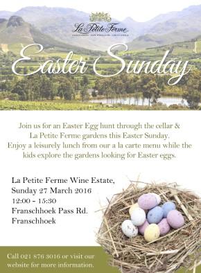 La Petite Ferme Easter Collateral
