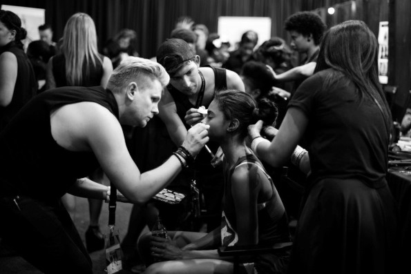 MAC and ghd behind the scenes