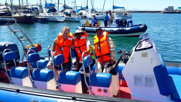 Patrolling the Mossel Bay Harbour