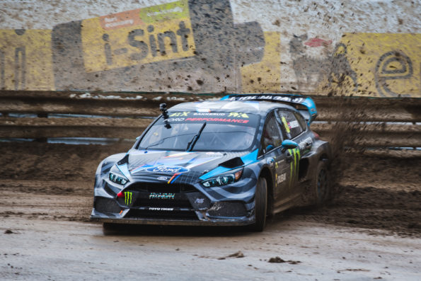 The Ford Focus RS RX: had a run in the season's opener at Montalegre. Picture: Quickpic