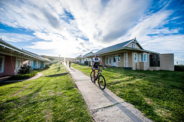 A rider cruises through the village in the PwC Great Zuurberg Trek. Photo: Supplied