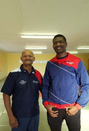 NMMU coach Ben Gallant will manage the cadet team and student Lwazi Mapitiza will compete in the Commonwealth judo championships starting at the NMMU indoor sports centre this weekend.  Photo: Supplied