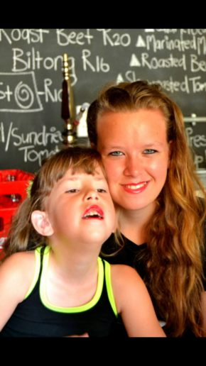 Sarah and her younger sibling Hope Jones. Photo: Supplied