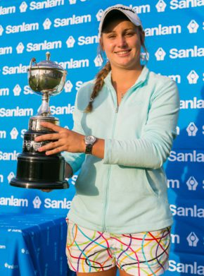 Johannesburg golfer Kaleigh Telfer won the Sanlam SA Women's Amateur Stroke Play Championship by six strokes at Westlake Golf Club on Tuesday. Credit: Stehan Schoeman