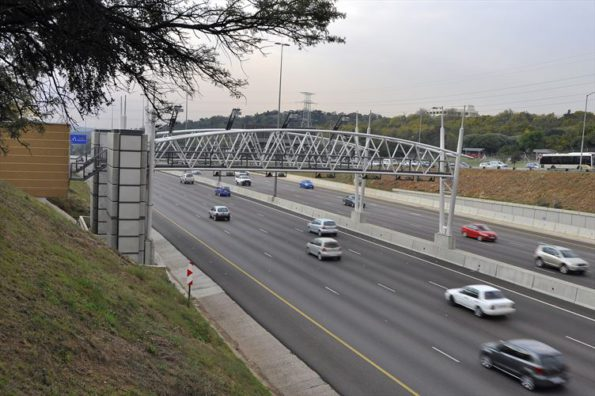 The gantries that caused all the trouble: figures will show if motorists have voted with their wallets. Picture: Quickpic