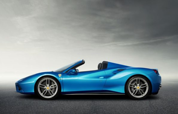 The 488 Spider: open-top V8 sports car: Picture: Quickpic
