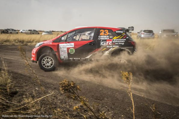 First overall: Leeroy Poulter and Elvene Coetzee driving to a win in their Toyota Yaris S2000. Picture:  Waldo van der Waal, Toyota Gazoo Racing
