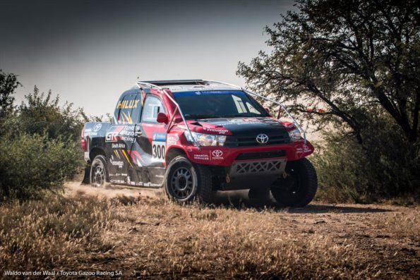 Leeroy Poulter and Rob Howie:  another win for Toyota aces. Picture: Waldo van der Waal