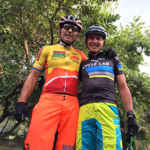 Rugby World Cup winner Joel Stransky (left) will partner cycling icon Andrew Mclean at the PwC Great Zuurberg Trek mountain bike race outside Port Elizabeth from June 3 to 5. Photo: Supplied