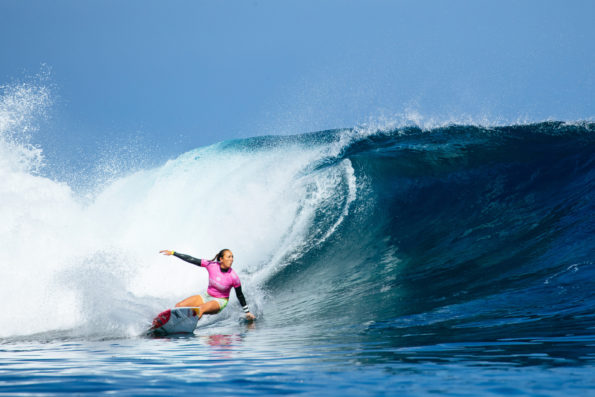Carissa Moore cruised into Round 3, looking dangerous. Photo: WSL/Sloane