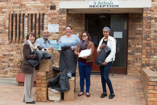 Fltr: Cllr Doris Nayler – Eden DM Speaker, Cllr Lionel Esau - Eden DM Deputy Executive Mayor, Ms Mandy Lucas - Project Operational Assistant, Ms Joan Kleynhans - Social Worker and Ms Chardonay Louw – Volunteer at the children centre.