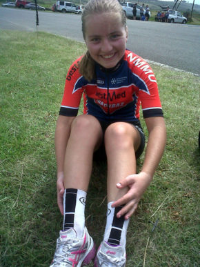 Port Elizabeth cyclist and NMMU student Anja Gerber has been selected for the junior national road team. Photo: Supplied