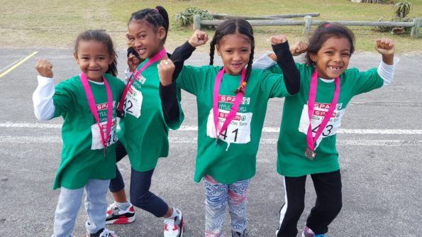Little ladies from all over the Eastern Cape turned out in their droves for the SPAR Little Ladies' Race, which is a curtain-raiser for this Saturday's SPAR Women's Challenge. Photo: Full Stop Communications