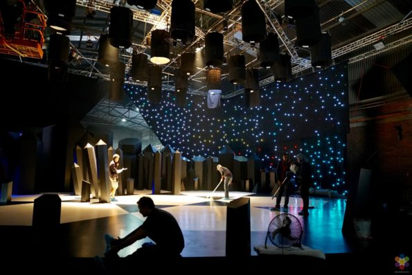 Pre-Production Stage with Starry Curtain